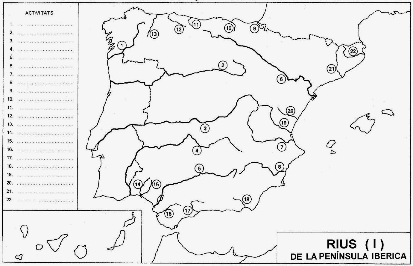 Mapa Fisic Espanya Mut.Mestre A Casa Socials Naturals